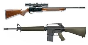 Semi auto hunting rifle vs. AR-15